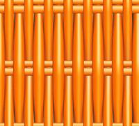 Plastic Wicker orange