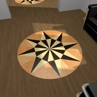 Parquet Decorative Star 02
