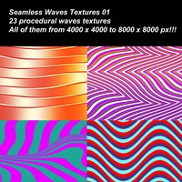 23 High definition procedural waves textures.
