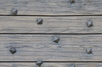 Wood planks with square nails