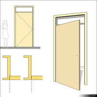 Door Swing Single Transom 00233se