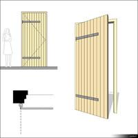 Door Single Leaf Ledged 00262se