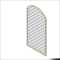 Door Leaf Arc Grille 00263se