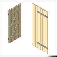 Door Leaf Ledge Brace 00269se