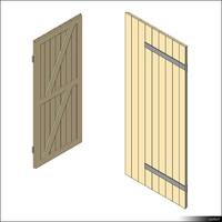 Door Leaf Ledge Brace 00270se