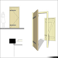 Door Single Wing Ledged 00271se