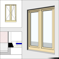 Window Casement Double Mullion 00280se