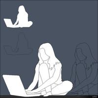 2D Woman Sitting 00299se