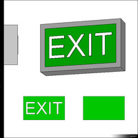 Emergency Exit Wall Mount 00472se
