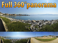 Ajaccio coast - 360 panorama