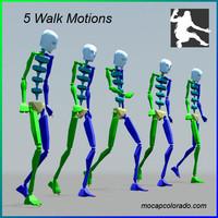 5 walk motions