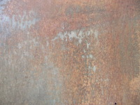 Rusted and corroded metal