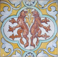 Decorated Tile 35