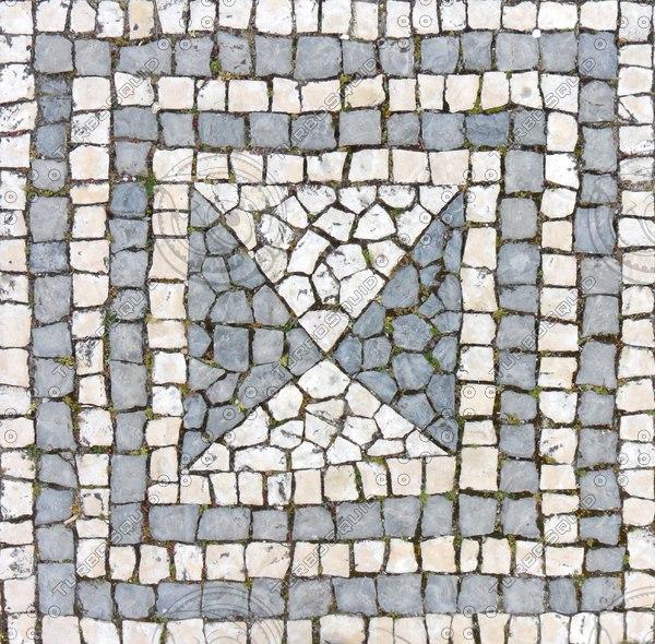 Texture jpg sidewalk mosaic tile