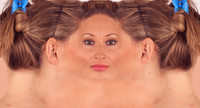 White Woman Facial Texture