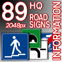 Information Road Signs Collection