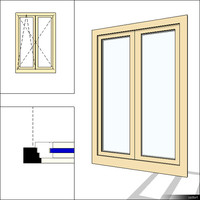 Window Double Swing 00275se