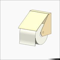 Toilet Roll Holder Wall Mount 00531se