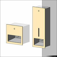 Soap Dispenser Wall Recessed 01121se