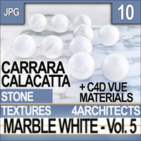 Texture Marble White & Materials Vol. 5 Carrara Calacatta