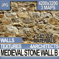 Texture Medieval Stone Wall & Material B