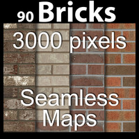 90 Brick textures large size-  acme  tileable seamless collection halfmast