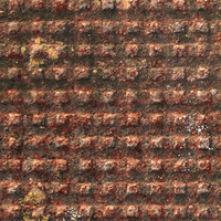 Rusted Metal Grid