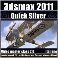 3dsmax 2011 Quick Silver Rendering v.2.0 Italiano cd front