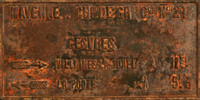 Rusted Antique French Sign