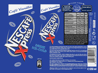Nescafe Xpress vanilla Label