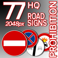 Prohibition Road Signs Collection