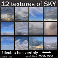 12 textures of sky - collection 01