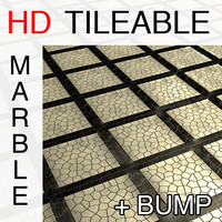 Marble tile mosaic