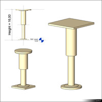 Raised Floor Pedestal 01110se