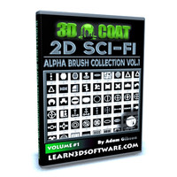 100 Sci Fi 2D Alpha Brush Collection -Volume #1