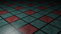 Blue Floor Tile
