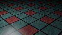 Blue Floor Tile