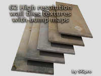 wall tiles textures _ diffuse+bump maps