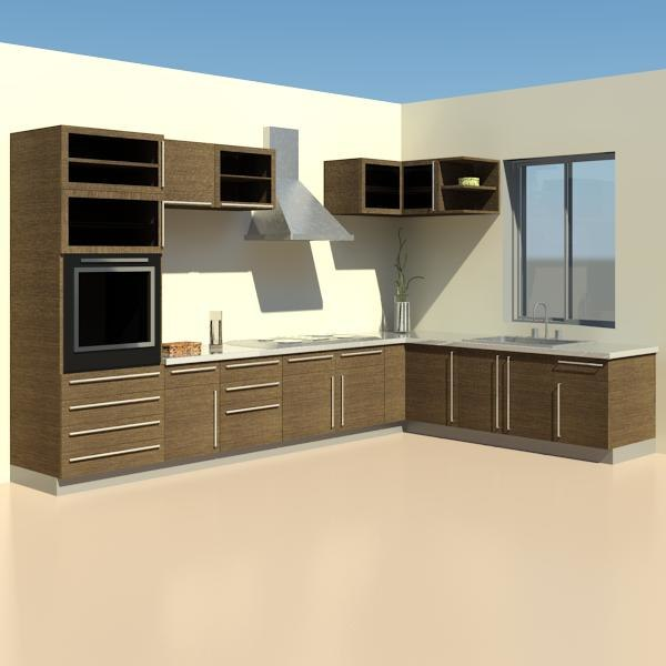 Revit Modern Kitchen Cabinets Kitchen