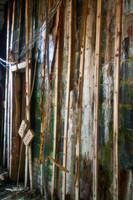 Abandoned building side walls