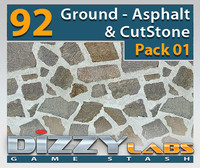 DLGND Ground Asphalt & CutStone Pack01