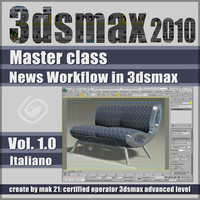 Video Master Class 3dsmax 2010 Volume 1.0 Italiano cd front