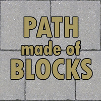 Path made of blocks