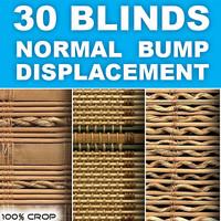 Natural material blinds textures