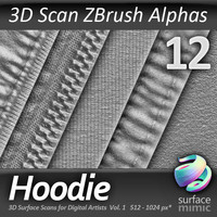 Hoodie ZBrush Alphas vol.1