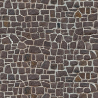 Rubble stone wall