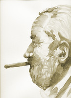 the old man with cigar
