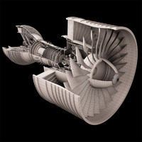 Turbofan Aircraft Engine Rolls-Royce Trent 900 - high resolution image