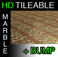 Red marble mosaic