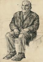 sitting old man